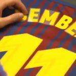 "Barcelona le dio la camiseta ""11"" que usaba Neymar a Dembelé"