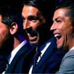 Cristiano bromeó con Buffon durante el sorteo