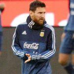 Messi ya entrena con la selección Argentina
