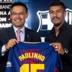 Barcelona vendió solo una camiseta de Paulinho el día de su presentación