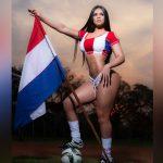 Paraguaya Andrea Araujo celebra la goleada a Chile