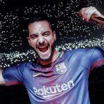 Maluma canta con el uniforme del Barcelona