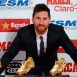 Messi recibe su cuarta Bota de Oro