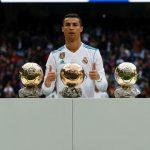 Cristiano presumió sus cinco Balones de Oro