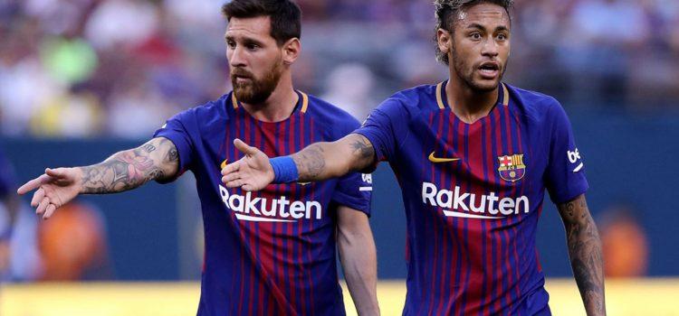 Messi segundo y Neymar tercero