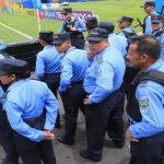 Gran cantidad de elementos policiales para el partido Olimpia vs Motagua