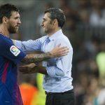 Valverde y Messi pactan dosificar minutos