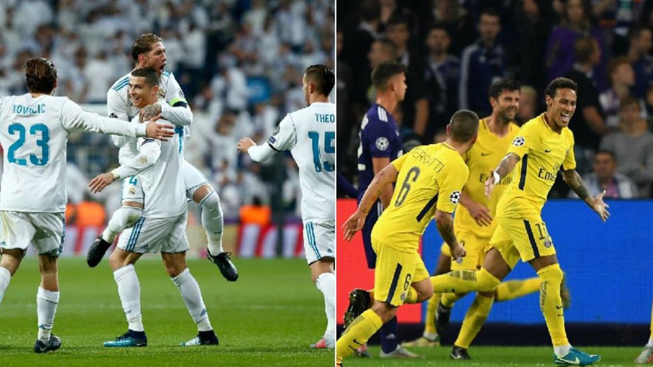 Real Madrid y PSG, las mejores ofensivas de la Champions