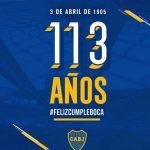 Boca Juniors cumple 113 años
