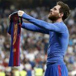 Un año del polémico festejo de Messi ante Real Madrid en el Bernabéu