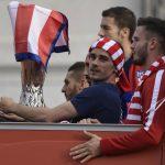 El Atlético celebró en Madrid el título de la Europa League