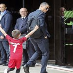 Gran gesto de Cristiano con niño hincha de Portugal