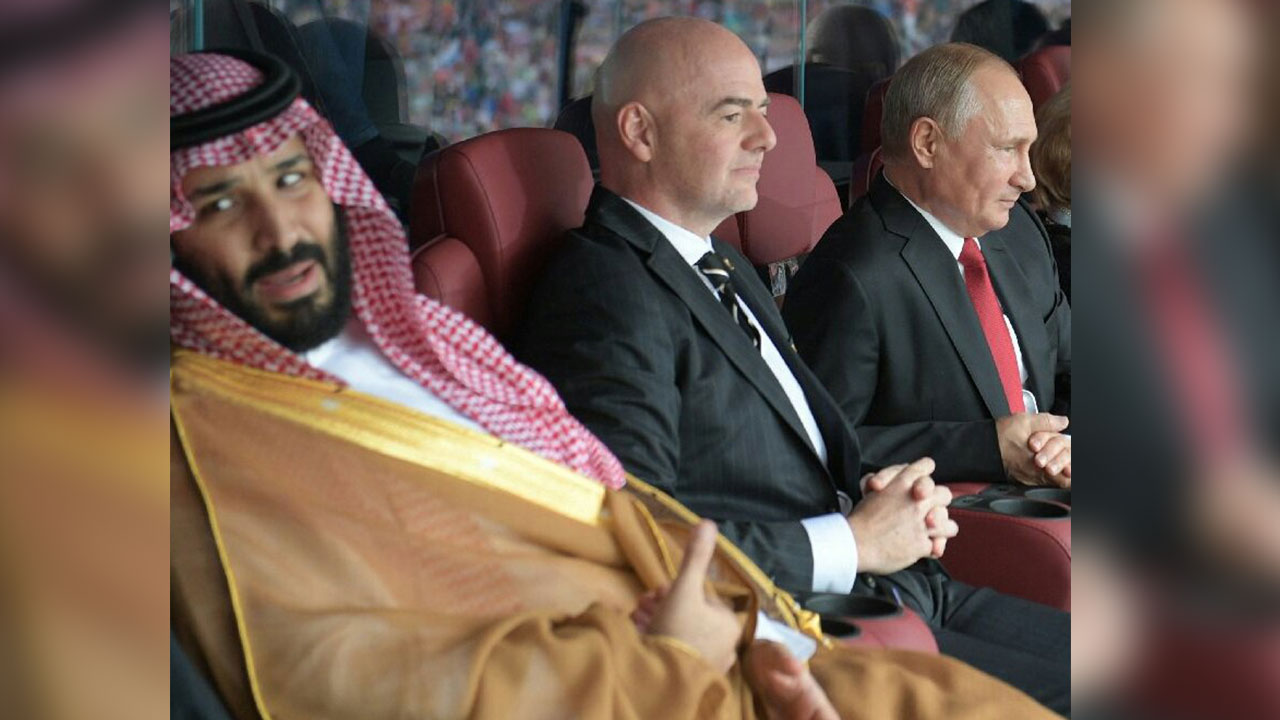 Putin e Infantino se disculpan con príncipe árabe por gol ruso