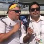 Reportero insulta a aficionado alemán tras confundir a Tegucigalpa con capital de Ecuador (VIDEO)
