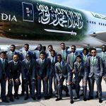 Turbina del avión que trasladaba a la selección de Arabia Saudita se incendió