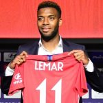 Atlético de Madrid presentó al volante francés Thomas Lemar