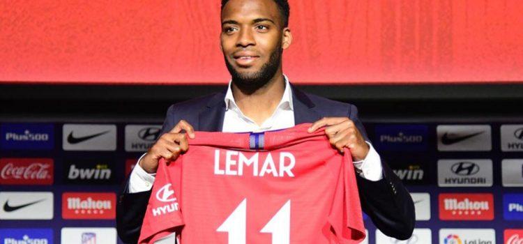 Thomas Lemar presentado por el Atlético de Madrid