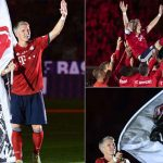 Schweinsteiger y su golazo en partido de despedida con el Bayern Munich (Vídeo)