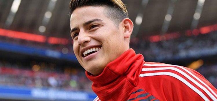 James Rodríguez sorprende a un pequeño hincha del Bayern