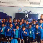 Reciben con honores a la selección sub 21 de Honduras