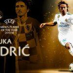 Luka Modric es el mejor jugador de la UEFA en 2018