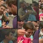 Niño rompe en llanto al recibir autógrafo de Messi