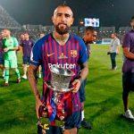 Mira que hizo Vidal tras ganar su primer título con Barcelona