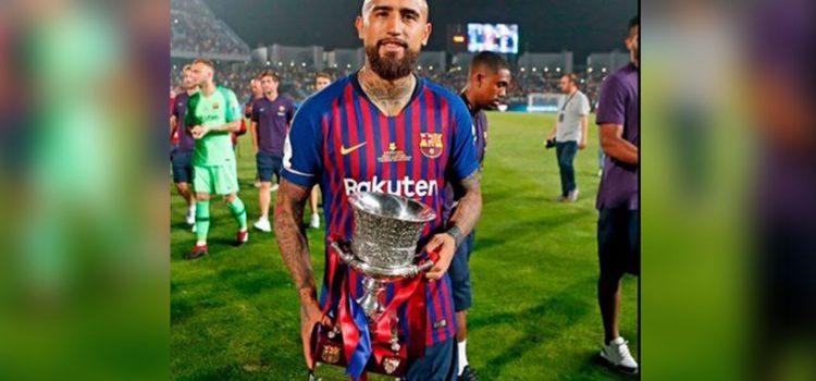 Vea que hizo Vidal tras ganar su primer título con el Barcelona