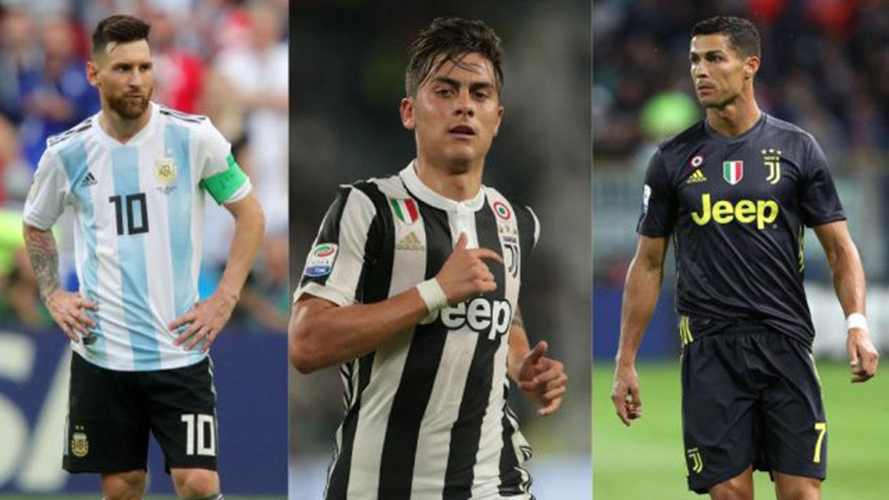 ¡Qué privilegio el de Dybala, jugar con Messi y Cristiano!