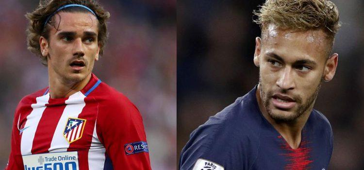 Griezmann sería el reempazo de Neymar en el PSG