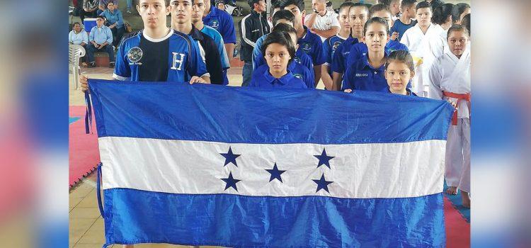Honduras segundo lugar en Open Internacional de Karate