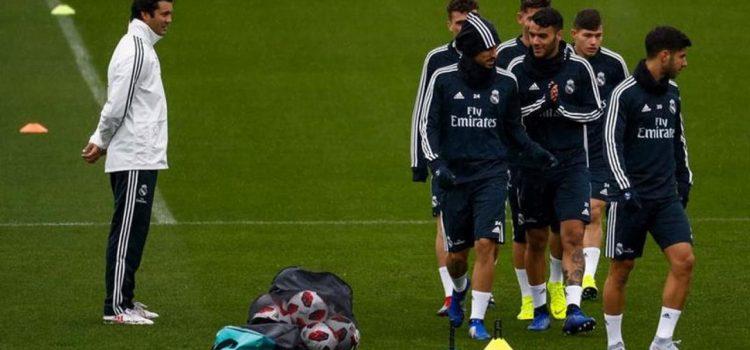 Así fue el primer entrenamiento de Santiago Solari al frente del Real Madrid