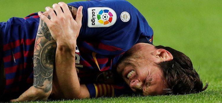 Messi sufre fractura y se pierde el clásico ante Real Madrid