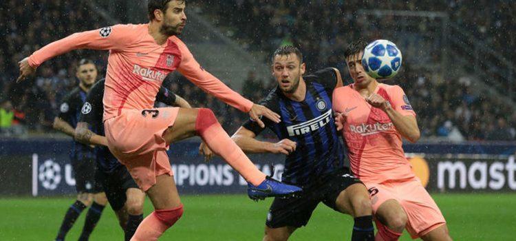 Barcelona empata con Inter y está en octavos de Champions