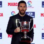Messi recibe el Trofeo Pichichi como máximo goleador de la liga