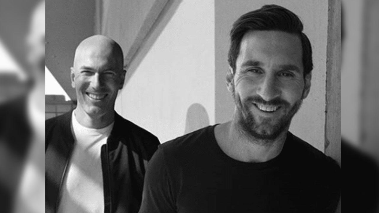 ¡Zidane y Messi, juntos!