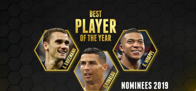 Cristiano Ronaldo, Mbappe y Griezmann, finalistas al mejor jugador del año