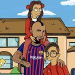 Arturo Vidal se transforma en Simpson