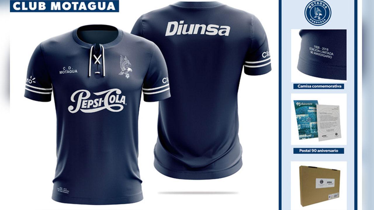 Motagua lanzan camisa conmemorativa al 90 aniversario