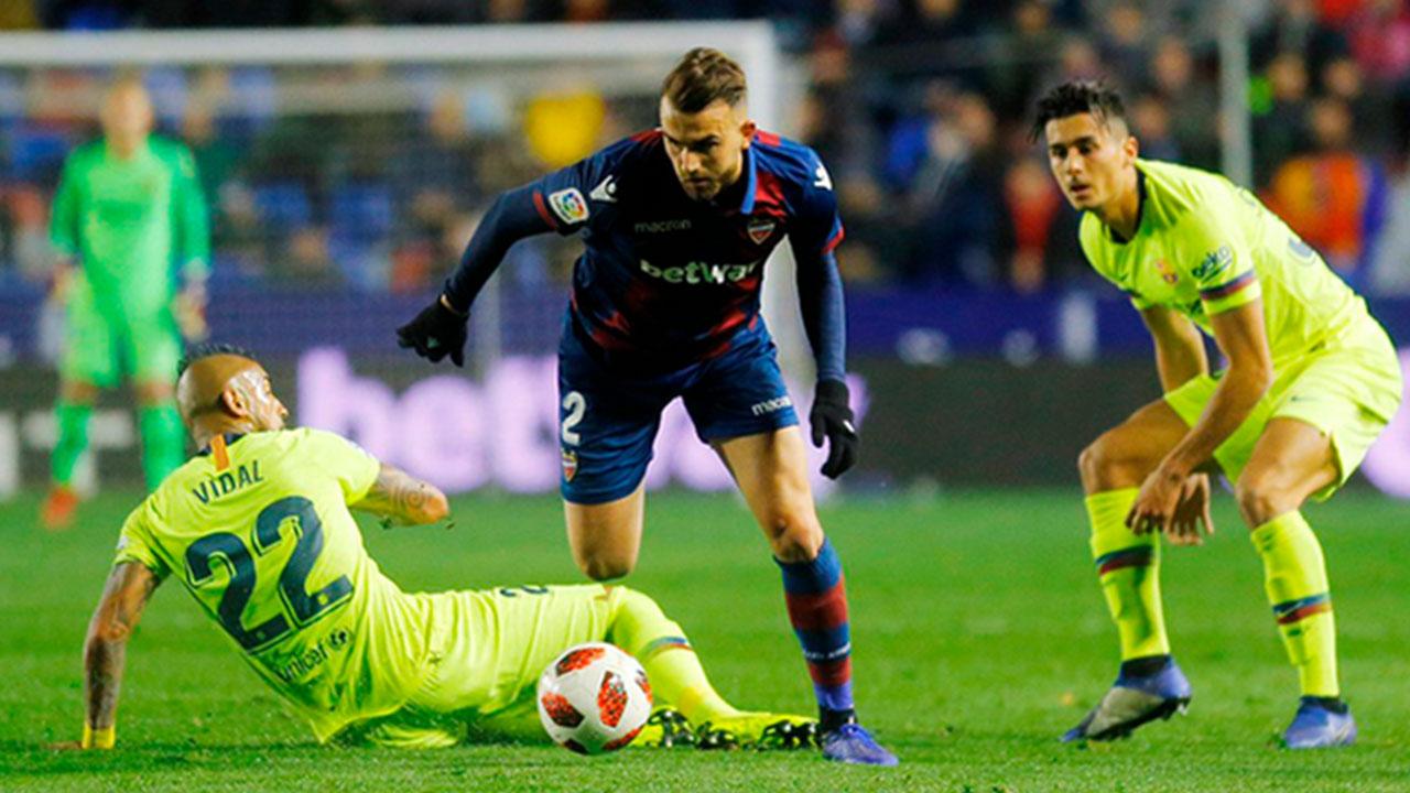 Barcelona pierde contra Levante en la ida de los octavos de final de la Copa del Rey