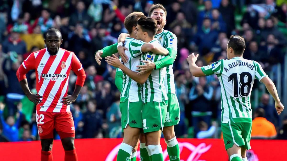 Un penalti en el último suspiro condena al Girona ante el Betis