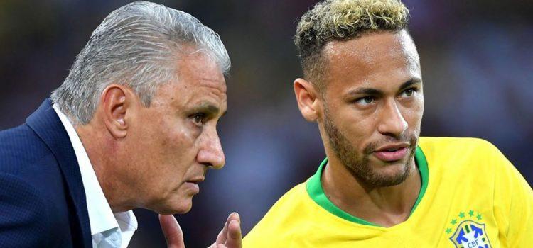 Tite deja en duda la presencia de Neymar en la Copa América
