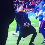 El gesto del «Cholo» Simeone tras el primer gol