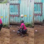 Mujer garífuna sorprende por su extraordinario talento con el balón de fútbol