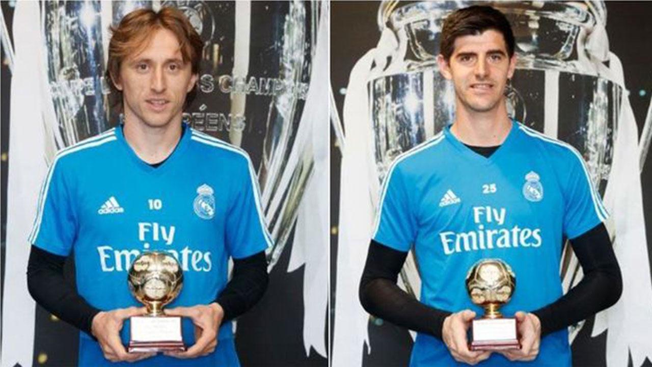 Luka Modric y Thibaut Courtois, premiados por la IFFHS