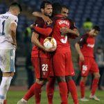 Sevilla vence 1-0 de visita a Lazio por los octavos de Europa League