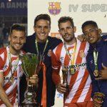 Tenerife destaca que su exjugador «Choco» Lozano gana un título ante el Barcelona