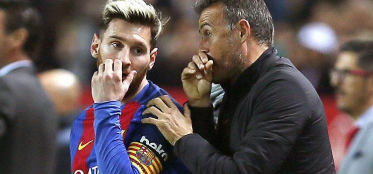 Luis Enrique admite que tuvo peleas con Messi