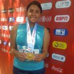 Hondureña Eufemia Velásquez conquista medalla de oro en Olimpiadas Especiales de Abu Dhabi