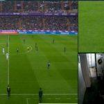 El VAR, vacío durante la revisión del primer gol anulado del Valladolid